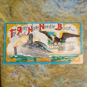 Vintage 1940's Army Navy Needle Sewing Kit